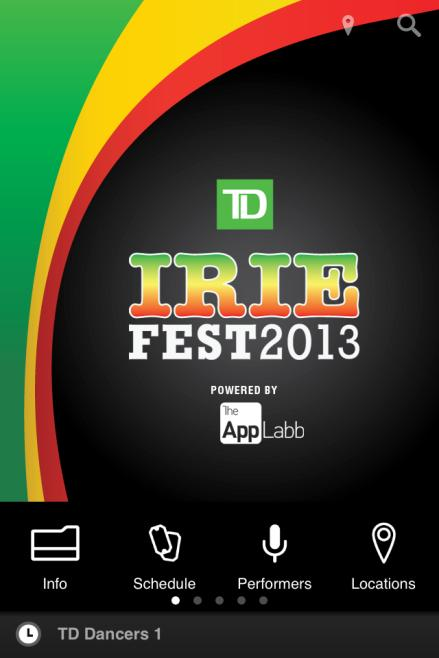 MOBILE APP DEVELOPMENT TD IRIE MUSIC FESTIVAL Mobile App The mobile app