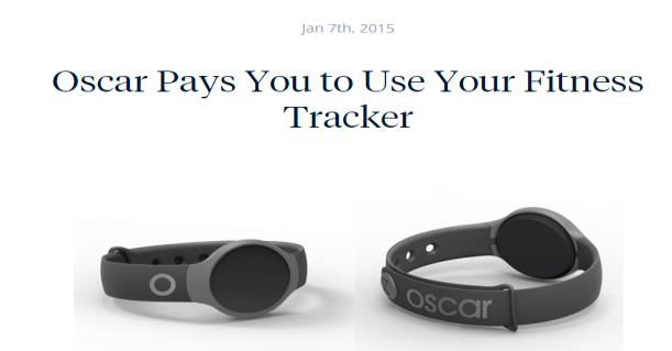articles about fitness advices, interviews with other members, press releases and information about Oscar s program Oscar highlights the free Misfit tracker and possible rewards during the sign up