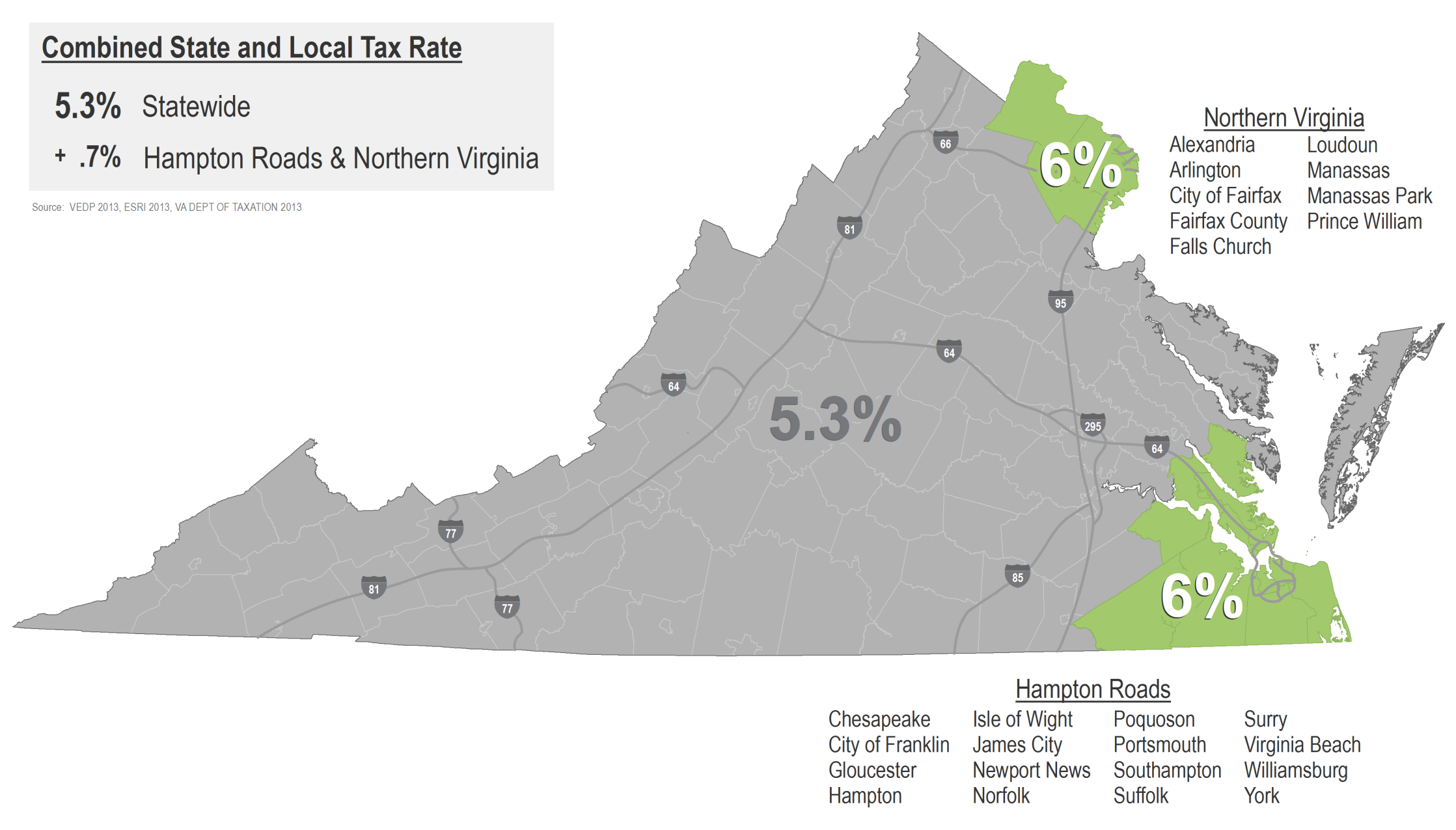Tax Incentives Sales and Use Tax Exemptions Beginning July 1, 2013, Virginia s state sales and use tax will increase from 4% to 4.3%.