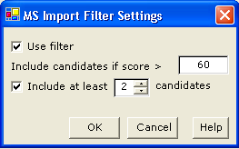 Interpretation 11 7 If you want to change filter, click Apply Filter to select a filter for the MS data to import. Proceed with step 8. Otherwise, proceed with step 10.