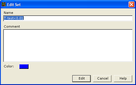 The Manage Sets dialog is displayed. The original data set and base set are both displayed in gray and cannot be used to create new sets, edited or deleted.