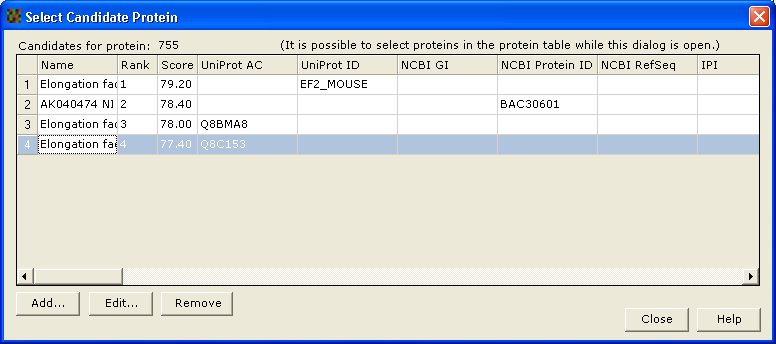 15 Tutorial I - Identify spots for picking and import MS data 8 Click Import MS data to import it into EDA. Click Close to the Import MS data dialog.