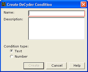 5 Setup 5.3.3 Select conditions for a workspace In BVA workspaces two numerical conditions can be defined.