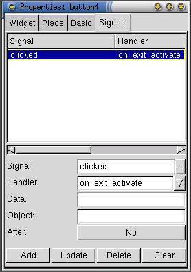 "in the toolbar with the clicked signal (see Figure 8). Listing 4: Second Python program #!/usr/bin/env python from gtk import * import gnome gnome.app_version = ""0.1"" import gnome."