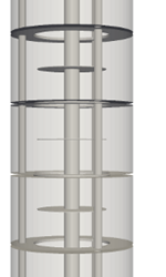 4: Refined mesh of the Kühni miniplant column using automated mesh refinement. 7.