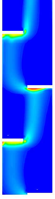 Simulations 105 Table 14: Acetone concentrations in the dispersed phase along the column height compared to experimental values of Garthe (2006). Meas.
