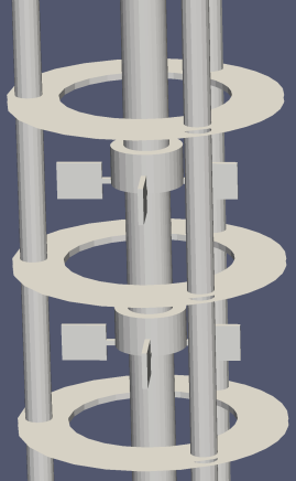 Simulations 71 Figure 7.2: Principle intersection lines for mesh construction (left) and final mesh of a Kühni miniplant column (right). Kühni miniplant Kühni DN60 QVF DN50 RDC DN 150 Figure 7.