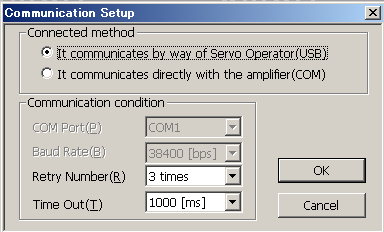 CHAPTER 1 INSTALLATION Connection with the PC loader and the servo amplifier (through mode) Configuration diagram: By connecting the servo operator as a converter between USB and RS-485, the PC