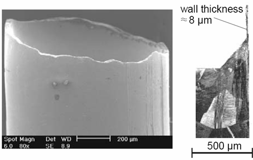 Literature Survey 4 Firstly, grain size is very important in microforming. As the grain size increases, the grain structure of the billet becomes more heterogeneous as shown in Figure 1.3.