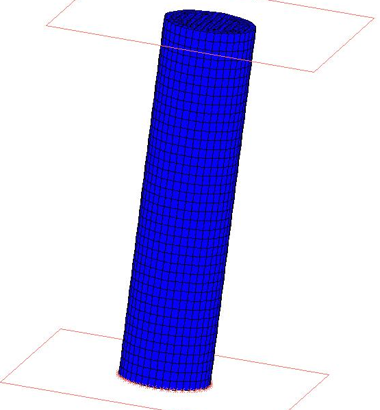 Model 2. 3D Tensile Testing 59 Figure 5.18: Model of the tensile testing simulations. Table 5.3: Material parameters for the isotropic model.