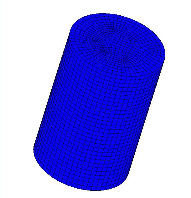 Model 3. Extrusion of a Cylindrical Billet 66 Table 5.5: Material parameters for the isotropic model. Parameter Magnitude Modulus of Elasticity 200000 Poisson s Ratio 0.