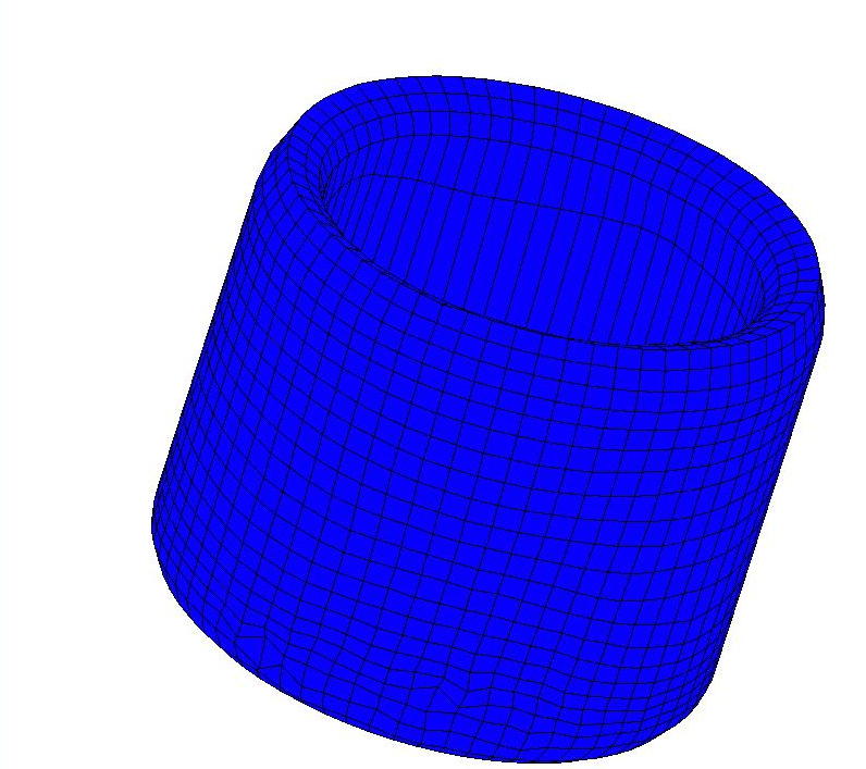 Model 4. Backward Can Extrusion 5.5.3 Simulation Results 5.5.3.1 Deformed Shape Figure 5.