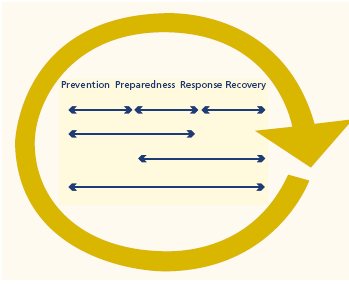 Figure 2: The recovery process (Sullivan, 2003, p. 10) The large circular arrow represents the general tendency of the process to approximate a sequence.