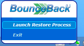 5. Launching a system restore while running from the USB backup drive Identifying your System Environment You will notice that your computers desktop will look the same as if you were to start your