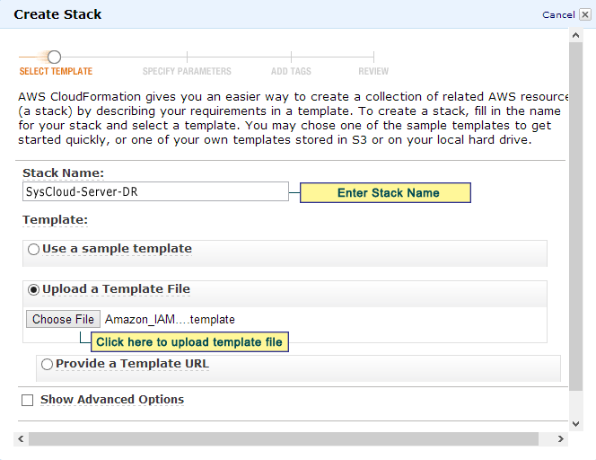 35 Figure 32: Select Template 3. Specify Parameters Enter a new password.