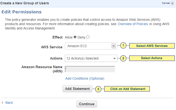 41 Figure 40: Edit EC2 Permissions Step 6: Create New Users Click on the