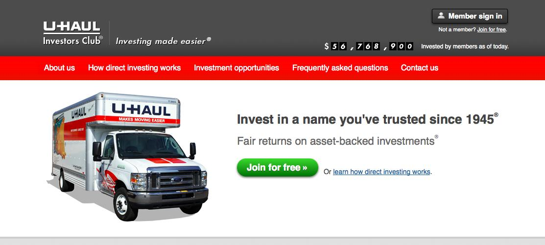 U-Haul enables the crowd to fund trucks and yield a periodic return Tap the crowd for better