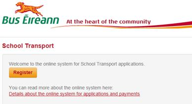 Registering Version: 1.1 The first step is to register an account through www.buseireann.ie.