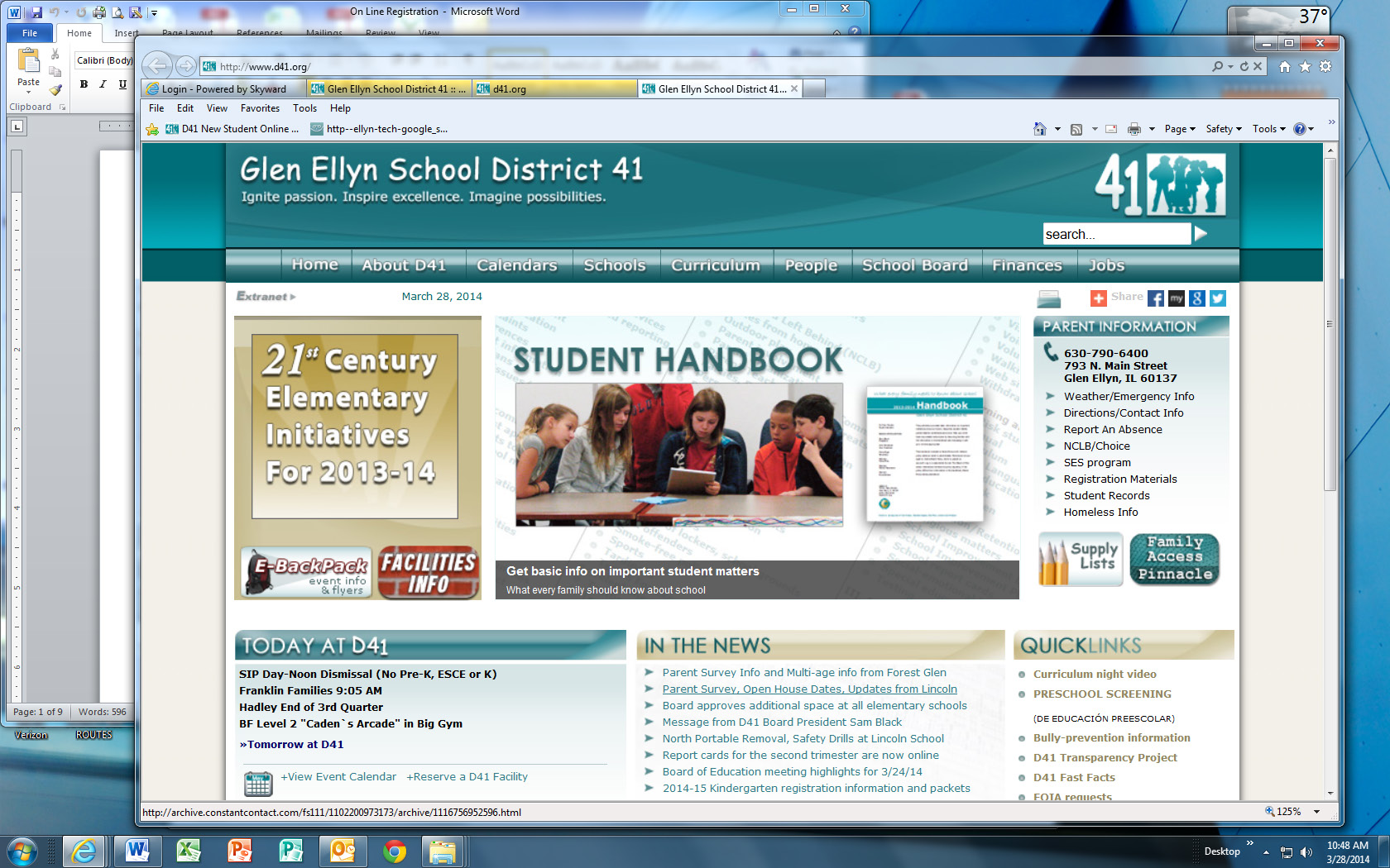 Glen Ellyn School District 41 Welcome to Family Access.