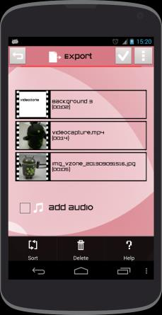 Videona can record and edit clips on your own mobile device. Share them immediately to your beloved ones.