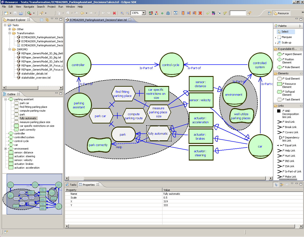 Chapter 2. Foundations Figure 2.25: Screenshot of the developed, Eclipse-based tool support OpenOMEi5 ConceptBase The other major supportive tool is the Telos implementation Concept- Base (see Chap.