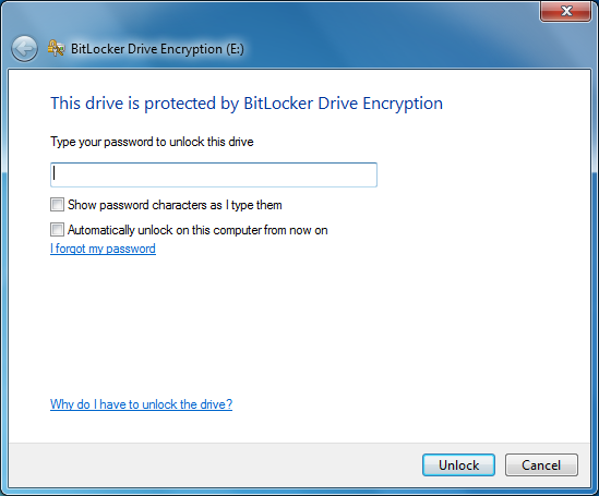 The USB drive will begin encrypting. It may take a long time depending on the size of the drive.