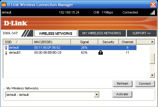 Section 3 - Configuration Wireless Networks The Wireless Networks (Site Survey) page will display all wireless networks that are available in your area.