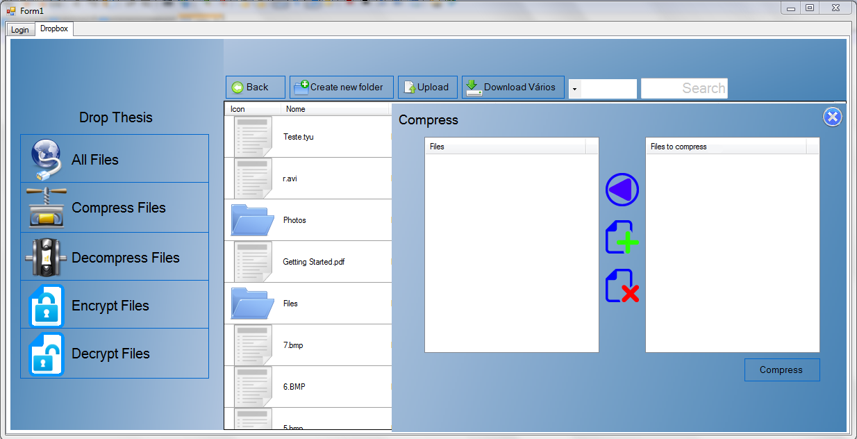 - Navigate between Multimedia content (Figure 4.54) - using the preview files function is allowed the user to navigate through the previews of the files. Figure 4.