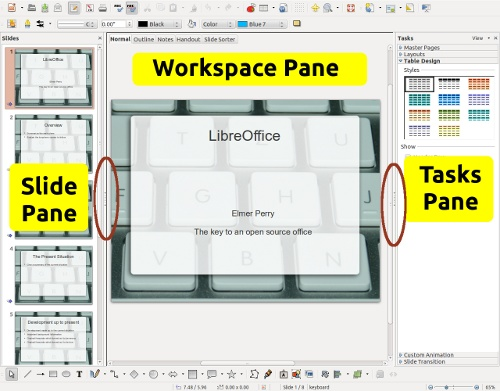 HOWTO - LIBREOFFICE Pt15: IMPRESS transition, you get a preview on the effect in the preview window. You can also adjust the speed of the transition.
