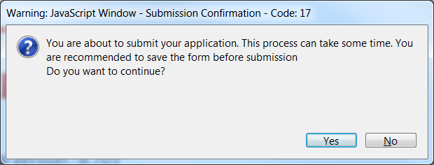 Submission of your eform On the final page of the form is the Submit this form button. Once your form has been successfully validated the button is enabled (as confirmed by its green colour).