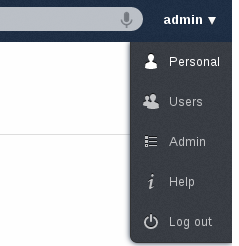 CHAPTER EIGHT CHANGING PREFERENCES As a user, you can change your personal settings by clicking on your username on the top-right of owncloud instance and choosing Personal.