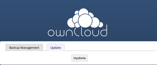 2. Even though the Update app backs up important directories, you should always have your own current backups (See Backing up owncloud for details.) 3.
