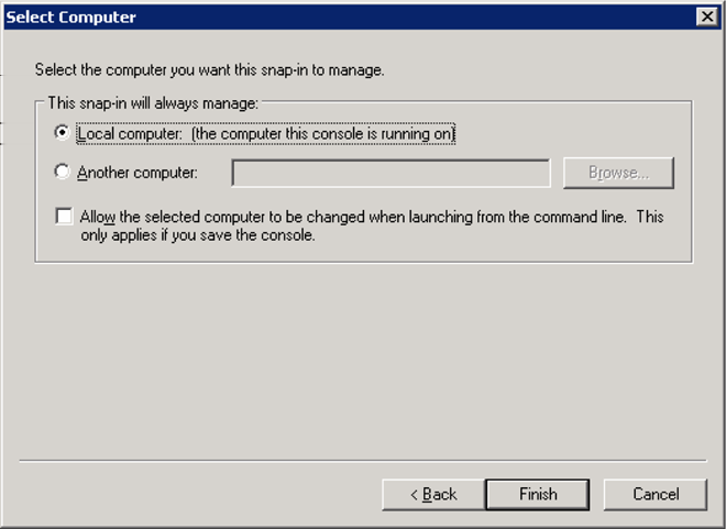 Microsoft Exchange Server 2003 Installing root certificates 19 3 Click Add.