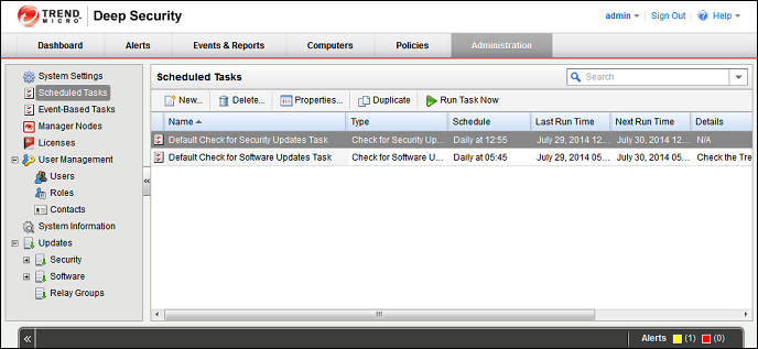 Quick Start: System Configuration This will display the Download Patterns Wizard which contacts the Trend Micro Update Servers and downloads the latest Anti-Malware Pattern Updates and distributes