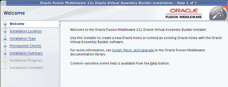 Creating Assembly with OVAB Configure Oracle Virtual Assembly Builder (OVAB) Environment Oracle Linux 5UL6 +or RHEL 5 UL6+ Meet the pre-installation requirements JDK 1.5.0_15 or greater,oadf 12.