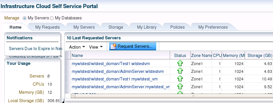 Deploy assemblies in EM12c Self Service Portal