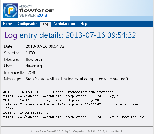 Chapter 8 FlowForce Server Supports RaptorXML Validate XML and XBRL, perform XSLT transformations,