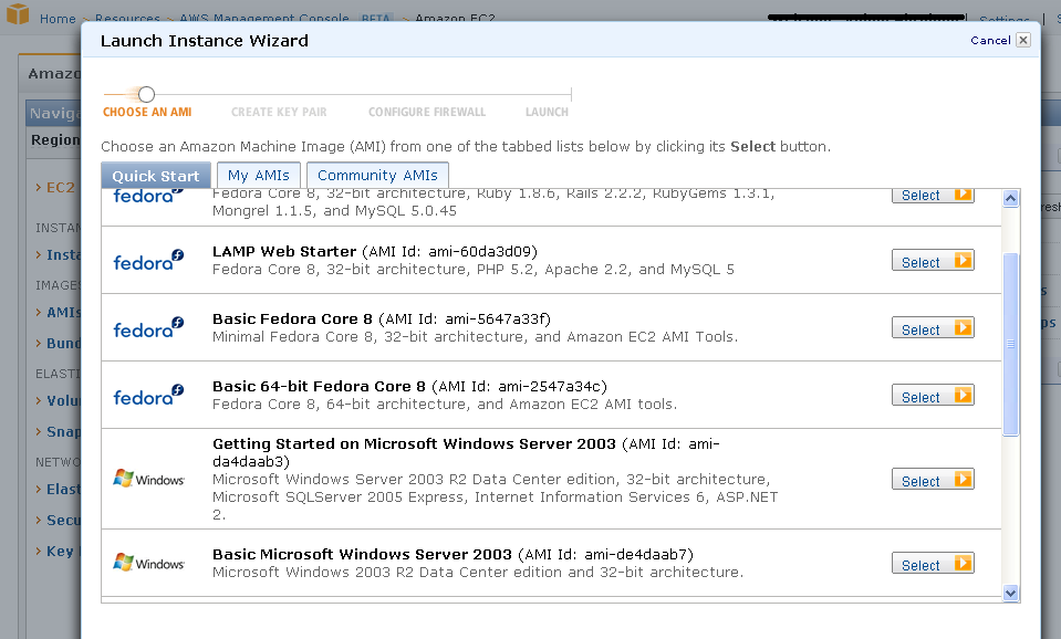 Amazon EC2 Launch Wizard 13 Source: iphp, Get your own cloud server running in 15
