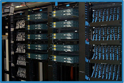 Data Center Reliability 100% Redundant Cisco Network at Tier-1 Data Center Inergen Gas