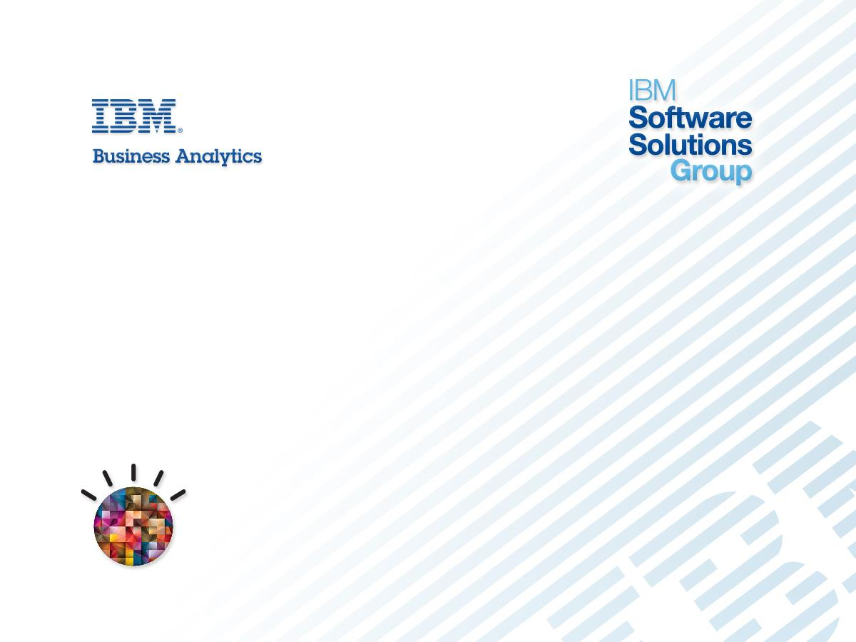 Recent advances and future roadmap for Performance Management within IBM Cognos Torben Noer, WW