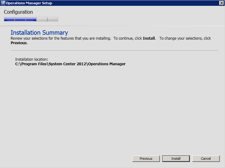7. On the Installation Summary page select Install 8. When the Setup is complete page appears, select Close. Note the two check boxes below.
