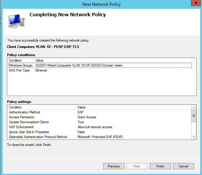Configure your policy with Filter-Id ACL addevsw01(config)#access-list 101 deny tcp any host 10.32.5.