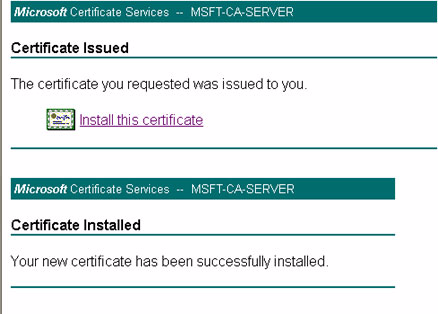 Figure 6-4 Step 5 for Server Certificate Installation Figure 6-5 shows the steps required to install the server certificate onto the ACS local machine store.