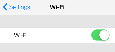 ios for ipad, iphone, & itouch 1. Select Settings 2. Select Wifi 3. Make sure Wifi is turned on.