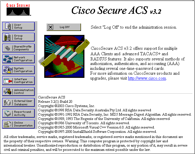 Chapter 3: Cisco ACS RADIUS Server Configuration A user logging onto a network with the PEAP/MSCHAP, PEAP/GTC and EAP-TLS protocols is authenticated by a RADIUS server. Cisco ACS version tested was 3.