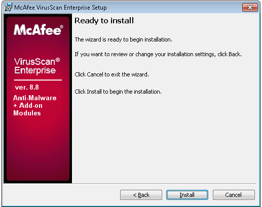 Table 27: McAfee Virus Scan Enterprise Installation 4. Figure 66: Select Setup Type Select Typical. Click Next. 5.