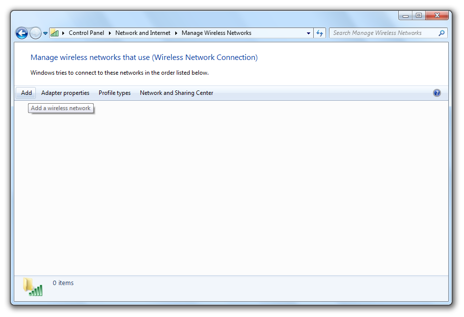 Pictures List Picture 1 Network and Sharing Center on Windows 7
