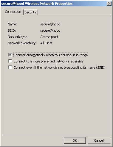Step 11: Under the Connection tab, verify that Connect automatically when this network is in range is selected.