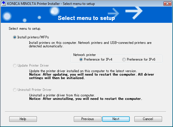 4.2 Easy installation procedure using the installer 4 3 To agree with all terms in the license agreement, click [AGREE]. % If you disagree, you will not be able to install the driver.