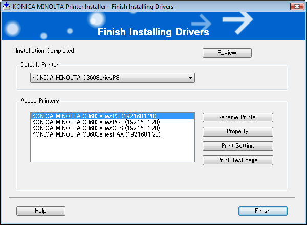 4.2 Easy installation procedure using the installer 4 8 In the [Confirm Installation Settings] page, click [Install].